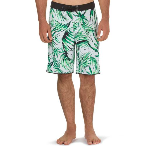 Boardshort Mixed Scallop White Water Palm