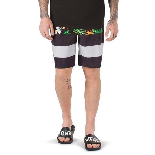 Traje de Baño Era Boardshort Black Tropical