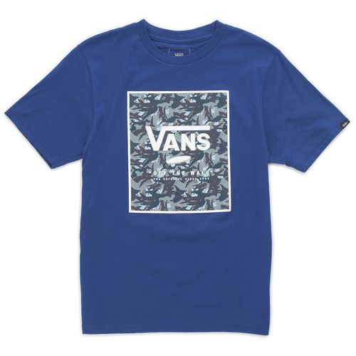 Polera Print Box Boys Youth (5 a 12 años) Sodalite Blue-Shark Camo