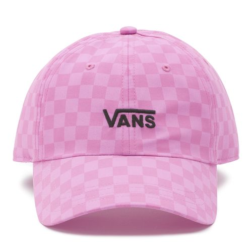 Jockey Court Side Printed Hat Fuchsia Pink Checkerboard