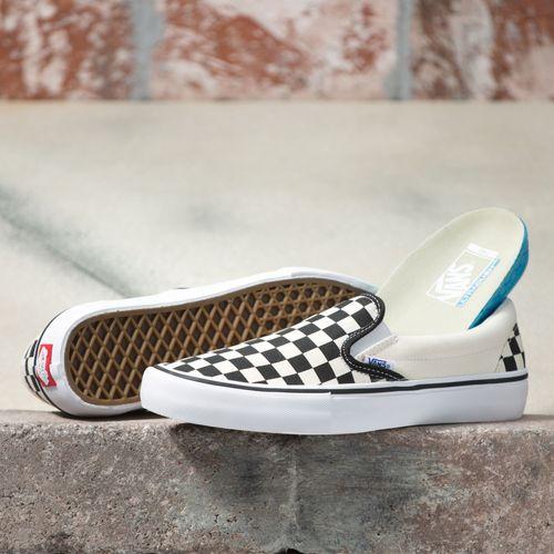 Zapatillas Slip-On Pro (Checkerboard) Black/White
