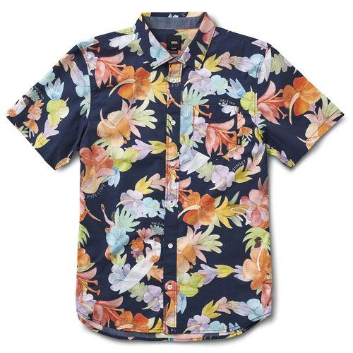 Camisa manga corta 2019 Vtcs Aloha Dress Blues