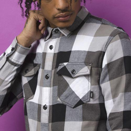 Camisa Box Flannel Black-Frost Grey