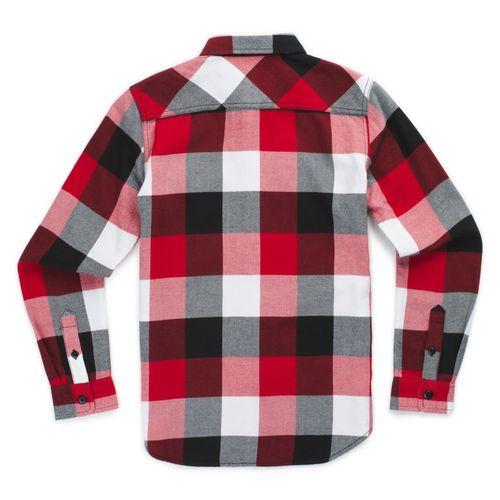 Camisa De Niños Box Flannel Chili Pepper-Black