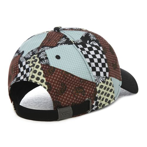 Jockey Court Side Printed Hat Floral Patchwork